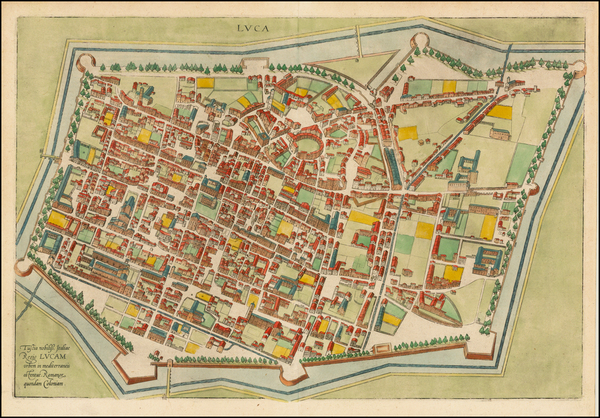 9-Italy Map By Georg Braun  &  Frans Hogenberg