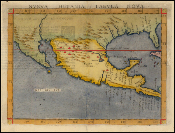 1-South, Southeast, Texas, Southwest, Rocky Mountains, Mexico and Baja California Map By Girolamo