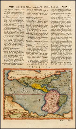 38-Western Hemisphere, South America, Australia and America Map By Giovanni Antonio Magini