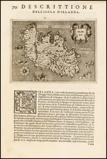 92-Ireland Map By Tomasso Porcacchi