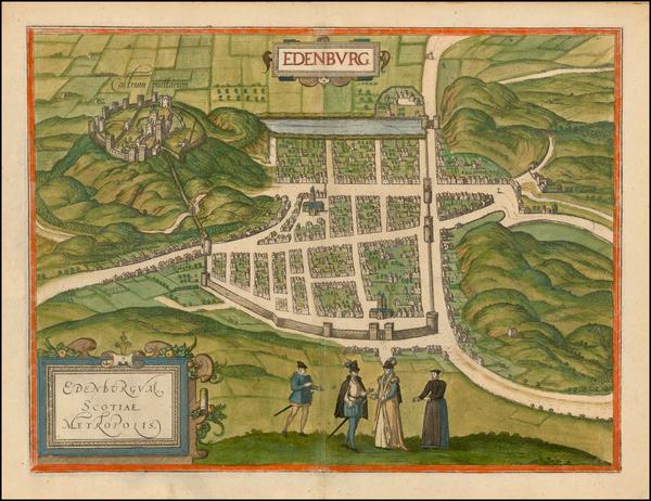 34-Scotland Map By Georg Braun  &  Frans Hogenberg