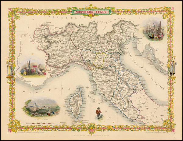 78-Italy and Balearic Islands Map By John Tallis