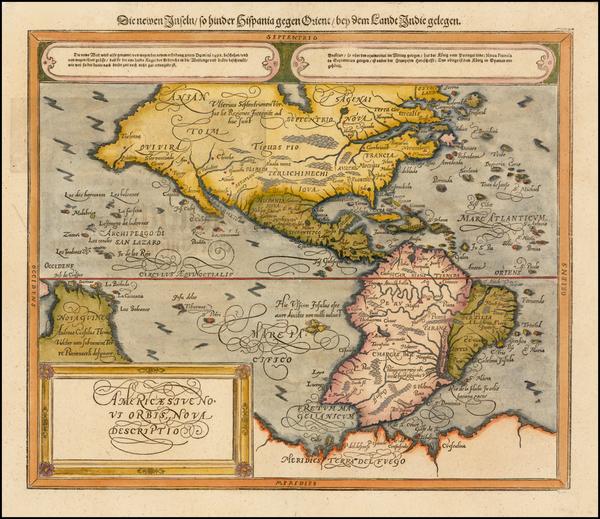 92-Western Hemisphere, South America and America Map By Sebastian Munster