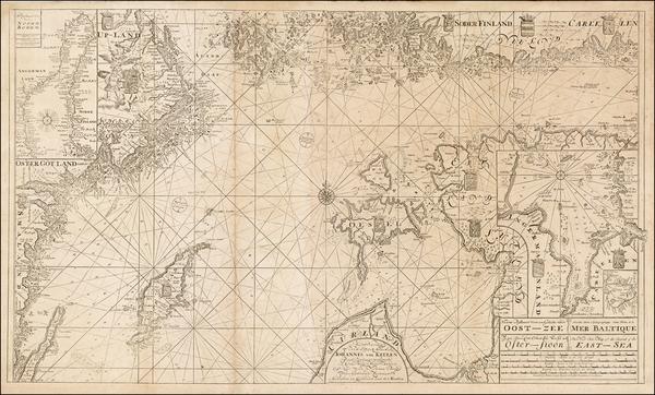 50-Baltic Countries and Sweden Map By Johannes Van Keulen / Gerard Van Keulen