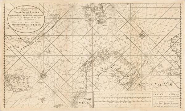 24-Polar Maps and Scandinavia Map By Johannes Van Keulen