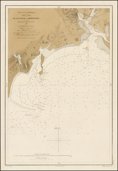 12-Connecticut Map By Depot de la Marine