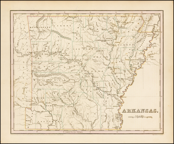 85-South and Arkansas Map By Thomas Gamaliel Bradford