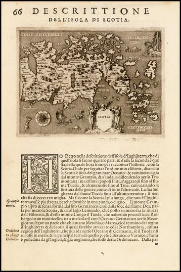 39-Scotland Map By Tomasso Porcacchi