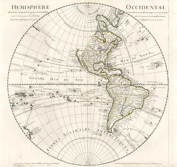 56-Western Hemisphere, South America, Pacific and America Map By Guillaume De L'Isle