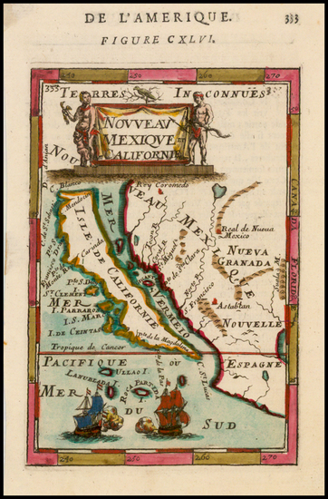 80-Baja California and California Map By Alain Manesson Mallet