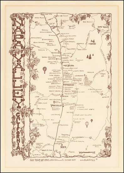 30-California Map By Gary Weatherly