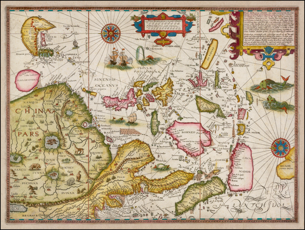 5-China, Japan, Korea, Southeast Asia and Philippines Map By Jan Huygen Van Linschoten