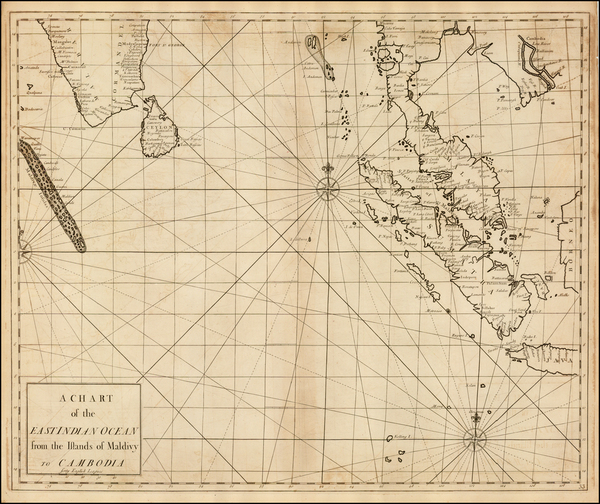 60-India, Southeast Asia and Malaysia Map By John Senex / Edmund Halley / Nathaniel Cutler