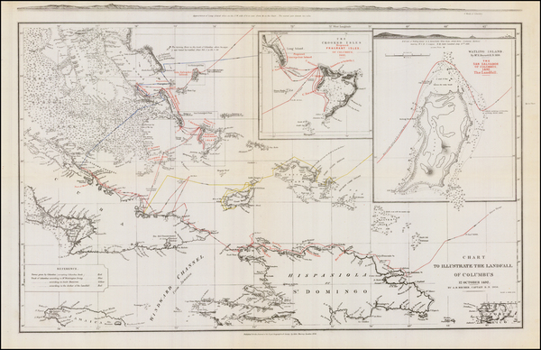 14-Caribbean and Hispaniola Map By John Murray