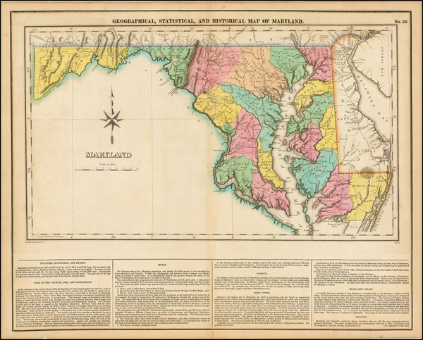 20-Mid-Atlantic and Maryland Map By Henry Charles Carey  &  Isaac Lea