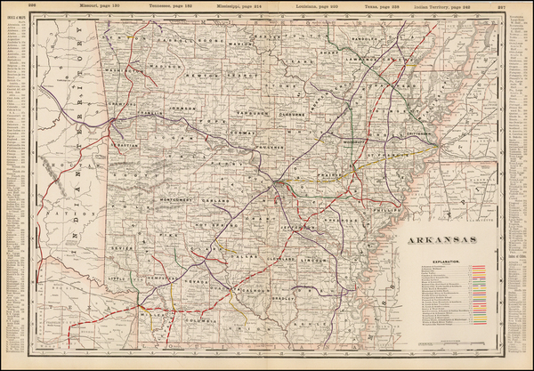 20-South and Arkansas Map By George F. Cram