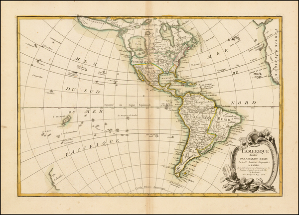 57-South America and America Map By Jean Janvier