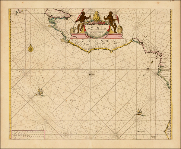 West Africa Map By Hendrick Doncker