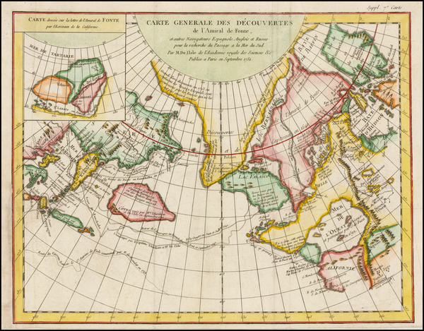 90-Alaska, Canada and Russia in Asia Map By Denis Diderot / Didier Robert de Vaugondy