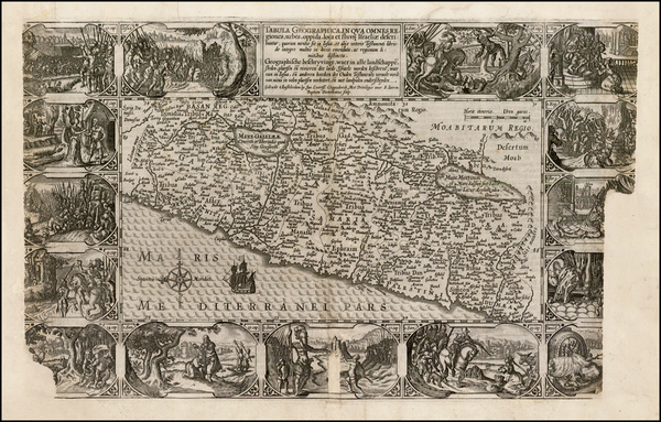 Holy Land Map By Petrus Plancius