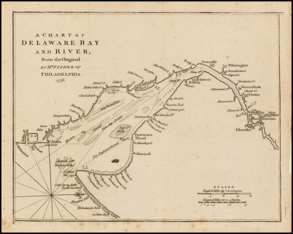 40-Mid-Atlantic and Delaware Map By Gentleman's Magazine