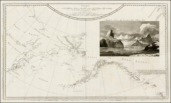 72-Polar Maps, Alaska, Canada, Pacific and Russia in Asia Map By James Cook / J. C. G. Fritzsch