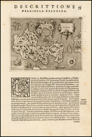 12-France and Italy Map By Tomasso Porcacchi