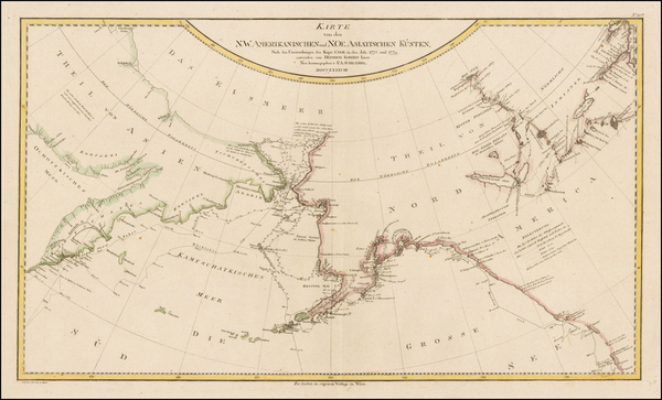 66-Alaska, Pacific, Canada and Western Canada Map By Franz Anton Schraembl