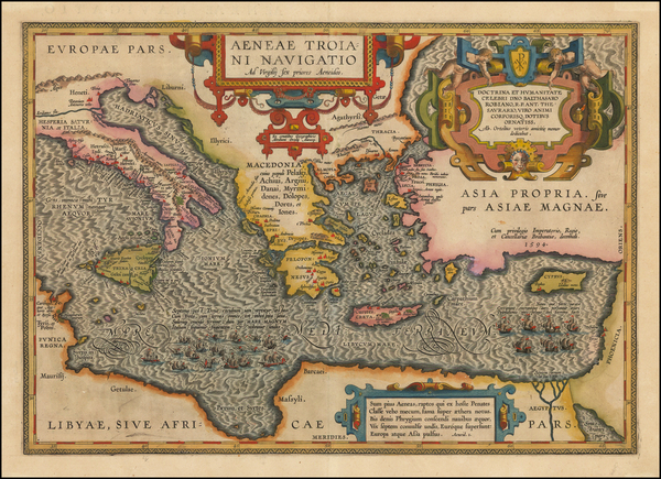 7-Italy, Greece, Turkey, Mediterranean, Balearic Islands and Turkey & Asia Minor Map By Abrah