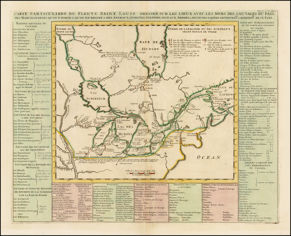 39-Midwest, Plains and Canada Map By Henri Chatelain