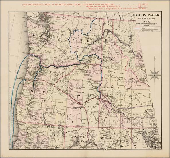 35-Idaho and Oregon Map By Oregon Pacific Railway Company