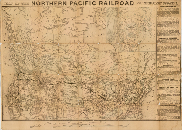24-United States, Midwest, Plains, Rocky Mountains and Canada Map By National Railway Publication