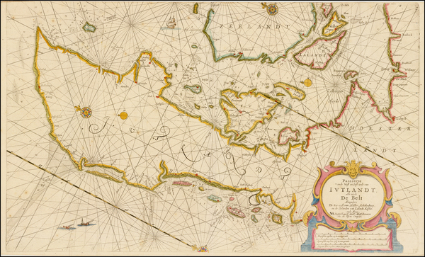 84-Germany, Scandinavia and Denmark Map By Pieter Goos