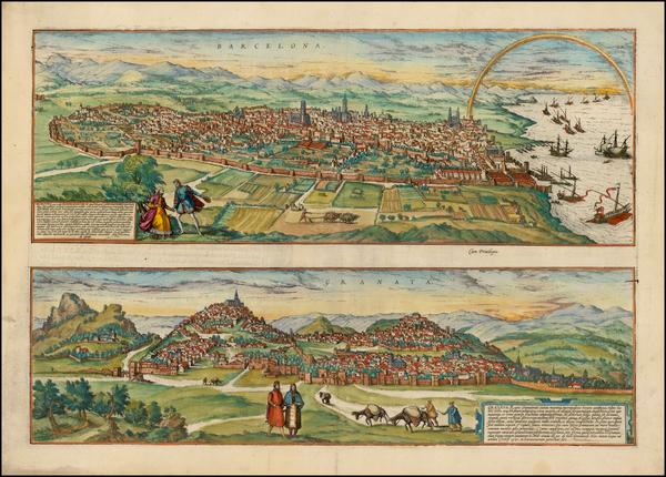 92-Spain Map By Georg Braun  &  Frans Hogenberg