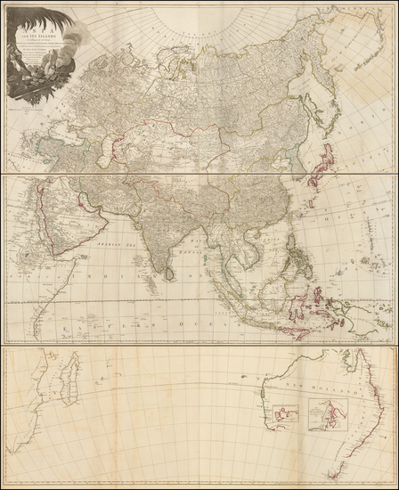 12-Indian Ocean, Asia and Australia Map By Richard Holmes Laurie  &  James Whittle