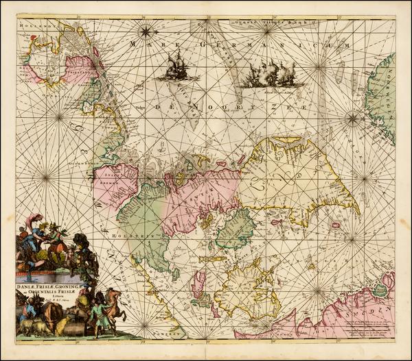 71-Netherlands, Germany, Scandinavia and Denmark Map By Reiner & Joshua Ottens