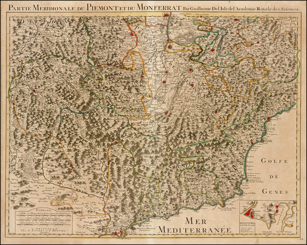 14-France and Italy Map By Covens & Mortier