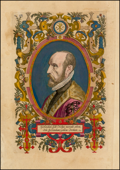 48-Portraits & People Map By Abraham Ortelius