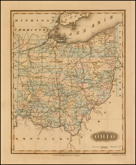 38-Midwest and Ohio Map By Fielding Lucas Jr.