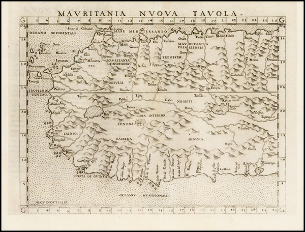 64-North Africa and West Africa Map By Girolamo Ruscelli