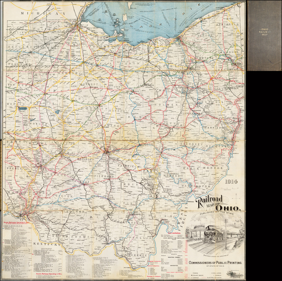 90-Midwest and Ohio Map By Columbus Lithograph Co.