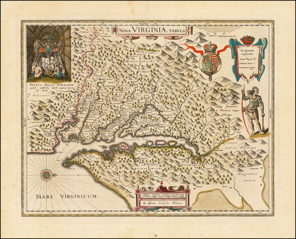 79-Mid-Atlantic and Southeast Map By Willem Janszoon Blaeu