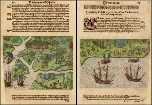 45-Florida and Southeast Map By Theodor De Bry