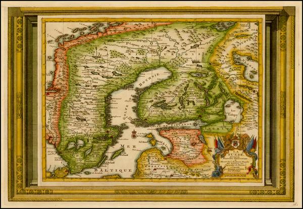 55-Baltic Countries and Scandinavia Map By Pieter van der Aa