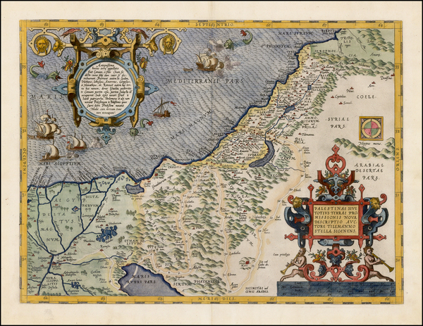 89-Middle East, Holy Land and Egypt Map By Abraham Ortelius