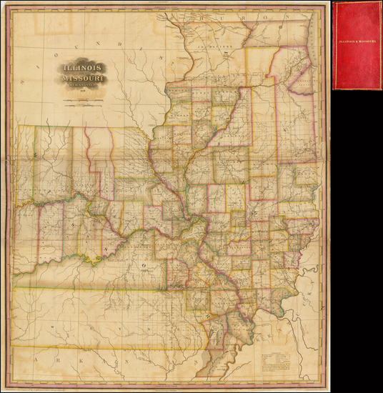 65-Illinois and Missouri Map By Henry Schenk Tanner