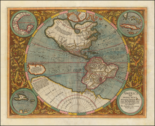Western Hemisphere, South America and America Map By Michael Mercator