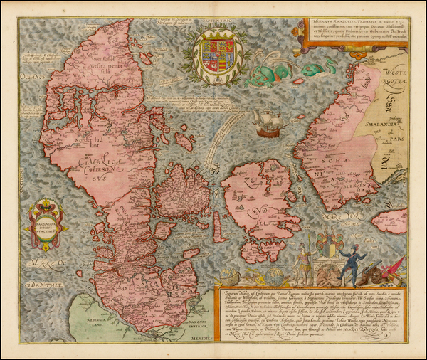 68-Germany, Baltic Countries, Scandinavia and Denmark Map By Georg Braun  &  Frans Hogenberg