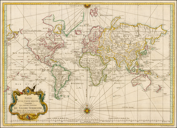 39-World, World, Australia & Oceania, Australia, Oceania and New Zealand Map By Jacques Nicola