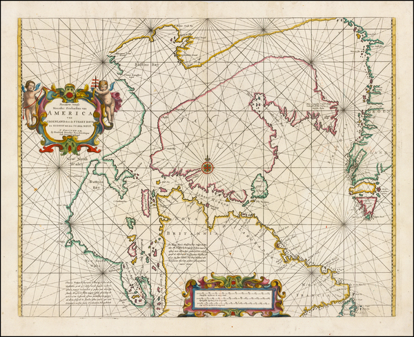 2-Polar Maps, Canada and Eastern Canada Map By Hendrick Doncker